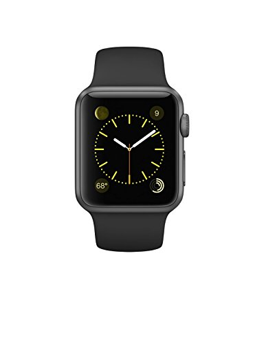 Apple Watch Series 1 38mm Space Gray Aluminum with Black Sport Band