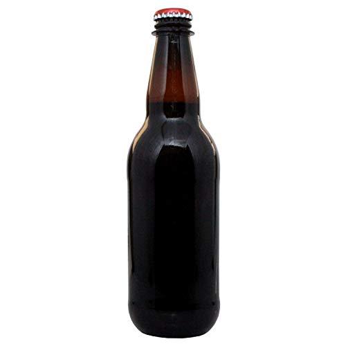 Botellas de cerveza de plástico y tapas de corona, 500 ml, 24 unidades, PET ámbar
