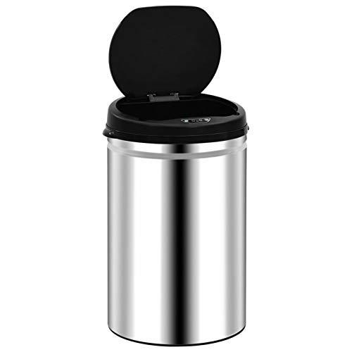 Cubo de Basura de Apertura automática Cubo de Basura con Sensor automático 30 L Acero Inoxidable