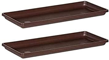 18 Inch- 2 Pack 18-Inch Novelty 10183 Countryside Flower Box Tray Brown