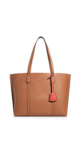 Tory Burch Women's Perry Triple-Compartment Tote, Light Umber, Tan, One Size