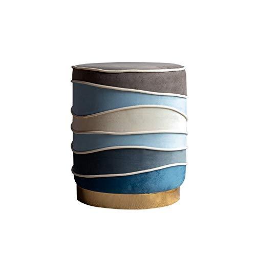 CHENSHJI Make-up tafel kruk moderne ronde fluwelen bank Ottomaanse stoel roestvrij staal Kruk dressoir Restaurant Cafe moderne Home Decor