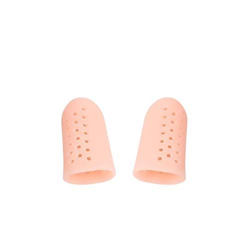 10 Paquetes SEBS Toe Sleeves Big Toe Protectores de maíz Tacón alto Toe de fricción Use Funda para el pulgar Gorras para los pies Crema hidratante para los dedos Cojín,Pink
