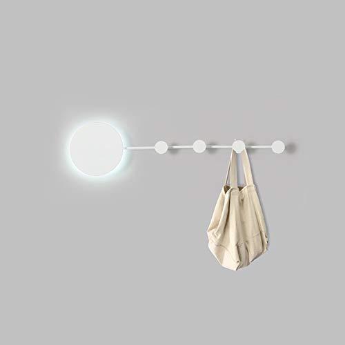 Decoratie LED zwart wit haak wandlamp garderobe veranda gang gang eetkamer woonkamer slaapkamer werkkamer trap balkon warm geel licht modern eenvoudig ijzer Villa