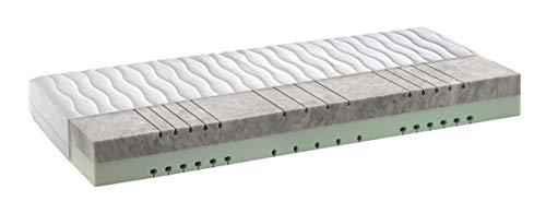 snoozo 7-Zonen HRX-Kaltschaum Matratze - 2in1 wendbare Liegehärten H3&H4 - mittelfest & fest - ca. 21 cm - Bezug waschbar bis 60 Grad (90 x 200 cm)