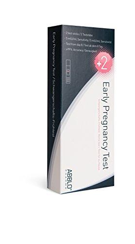 ABBLO Prueba de embarazo precoz (UK-DE) - 2 Prueba - 5 mlU/mL Sensibil