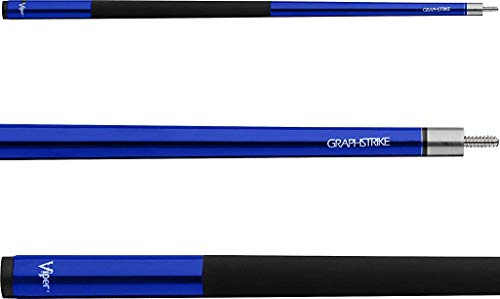 Viper Graphstrike 58' 2-Piece Fiberglass Graphite Composite Billiard/Pool Cue, Blue