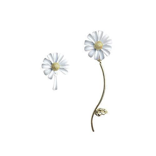LRHD Pendientes de botón, Lovely Exquisita de Flores largas Pendientes de la Forma de joyería de los Pendientes de Las Muchachas de Las Mujeres de los Hombres de Moda for cumpleaños/Partido/Navida