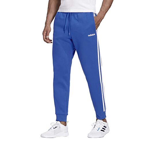 adidas Essentials 3-Stripes Cuffed Fleece Pantalones, Azul, XX-Large para Hombre