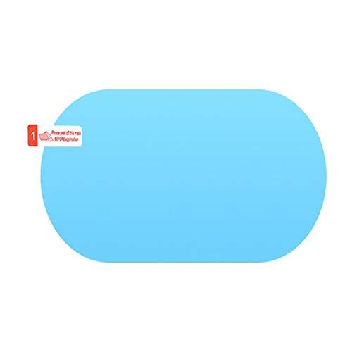 HoneybeeLY Wasserdichte Folie für Autospiegel, Autospiegel, Antibeschlagfolie, wasserdicht, aus Glas, für Fenster im Winter, blau, Ellipse 100x150mm