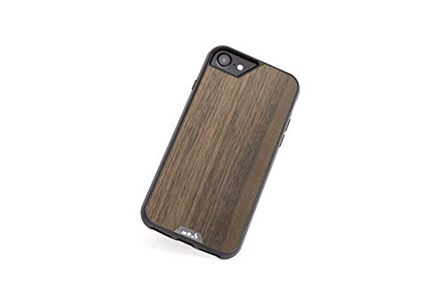 Mous - Protective Case for iPhone SE/8/7/6S/6 - Limitless 2.0 - Walnut - Screen Protector Included