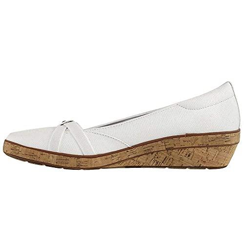 Grasshoppers Women's Gigi Wedge Sandal Sneaker, White, 8