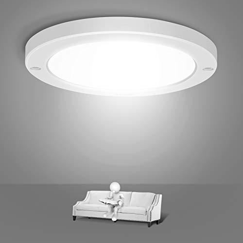 Youtob LED Unterputz Deckenleuchten, 15 W 100 Watt Äquivalent, 1200 lm weiße runde Leuchte für Küchen, Schränke, Treppenhäuser, Keller, Flure, Wäschereien (Cool White 4000K-Weiß)