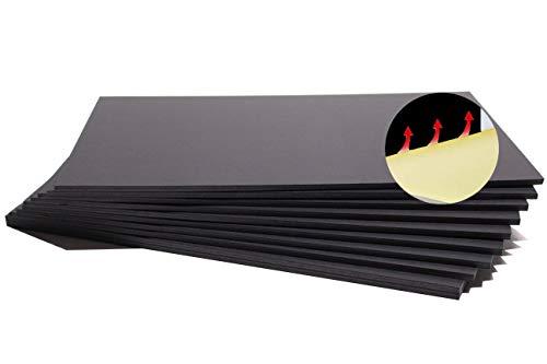Chely Intermarket carton pluma adhesivo A4 negro con espesor de 5mm/10 unidades/, foam board rectangular para manualidades, foto o soporte(543-A4*10-0,45)