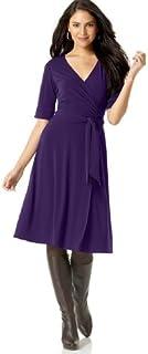 فستان دونا مورجان متوسط الطول بكسرات وحاشية منخفضة للنساء