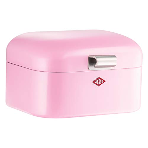 Wesco 235 001 Mini Grandy Brotkasten 17 x 18 x 12cm (L/B/H) rosa, Edelstahl