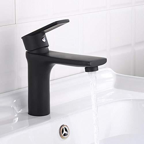 Grifo del fregadero, grifo de lavabo de latón negro grifo d