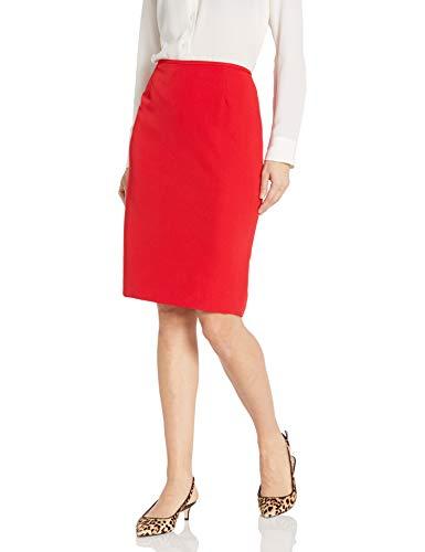 Tahari ASL Women's Pencil Skirt, Scarlet Red, 14