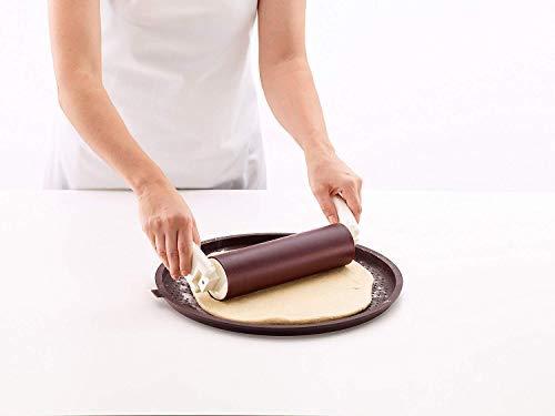Berger Moule à Pizza en Silicone avec Trous pour Pizza Marron Ø 35 cm x 1,7 cm