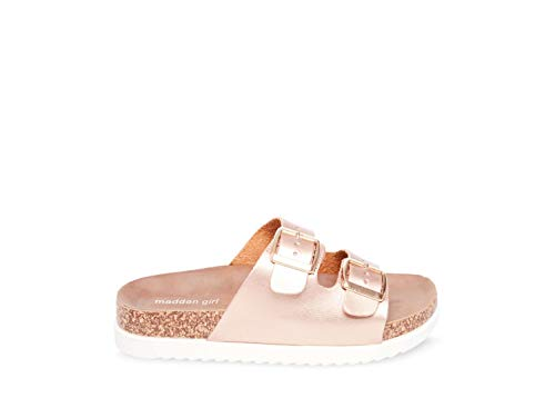 Madden Girl Women's GOLDIIE Slide Sandal, Rose Gold, 8.5 M US