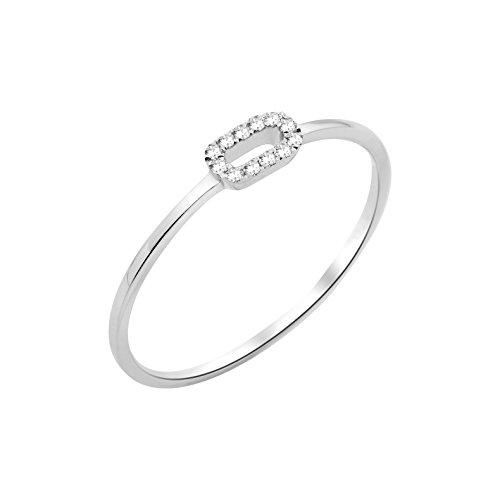 Miore Ring 9 karaat (375) witgoud diamant 0,05 ct
