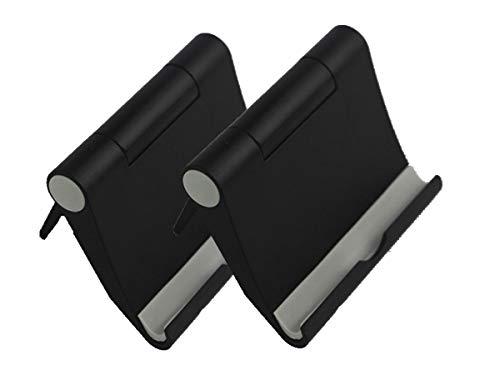 Non-Slip Cell Phone Stand Holder Mobile Phone Dock,Black fold Phone Holder,Smartphones for Holder Tablets Universal,Cell Phone Stand(2 Pack)