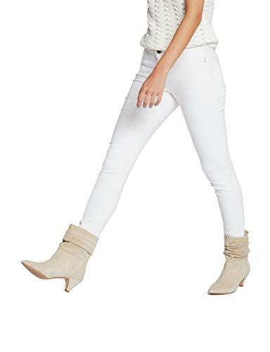 Morgan 211-PETRA Pantalones, Off White, 44/Alto para Mujer