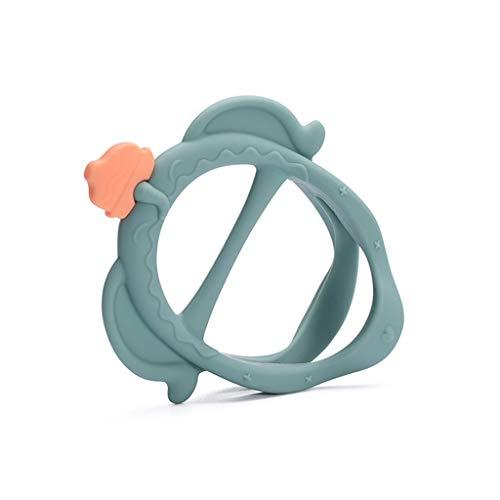 Gergxi Bebé de Seguridad de Silicona Mordedor Recién Nacido 3D Dentición Molar Stick Bebés de Enfermería Juguete Verde
