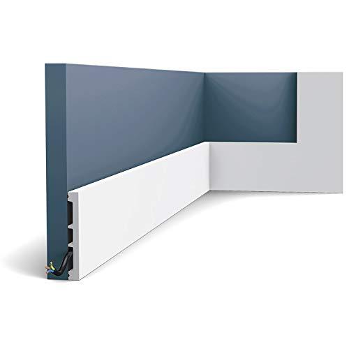 Zócalo Orac Decor SX163 AXXENT SQUARE Zócalo Multifuncional Elemento decorativo para pared diseño atemporal clásico blanco 2 m