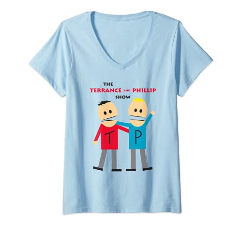 Womens South Park Terrance and Phillip V-Neck T-Shirt