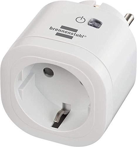 brennenstuhl®Connect enchufe inteligente WA 3000 XS01 (enchufe WiFi programable, control por App o voz, smart plug, compatible con Alexa y Google Assistant)