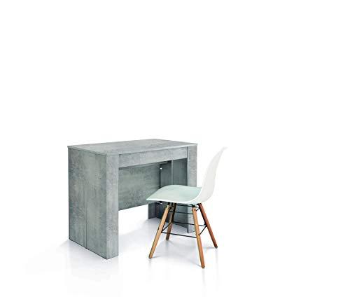 Fashion Commerce FC1651 Consolle in Legno, Metallo, Cemento Beton, 50 x 90 cm - 230 x 90 cm