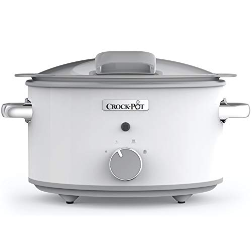Crock-Pot CSC038 DuraCeramic Slow Cooker with Hinged Lid, Anti-Stick and Easy Clean, 4.5 Litre (4-5 People)