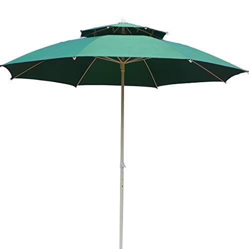 Summer supplies Sombrilla de Jardín y Terraza,Sombrilla para Exterior con Poste de Hierro Forjado y retirable paño de poliéster Paraguas para Patio Terraza