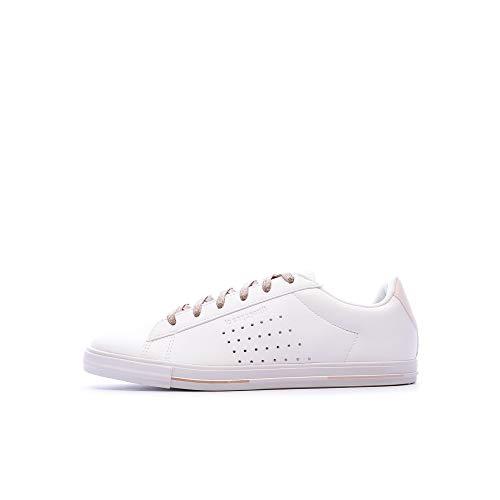 LE COQ SPORTIF Agate Boutique Premium Zapatillas Moda Mujeres Blanco/Rosa - 38 - Zapatillas Bajas
