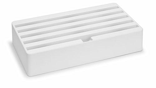 All-Dock Ladestation - Large - Universal Shell+Top, 6fach USB Hub - Weiß / matt gummiert