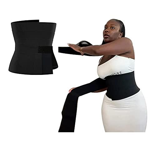 Teebay Snatch Me Up - Cinta de entrenamiento invisible para mujer, Negro, talla única