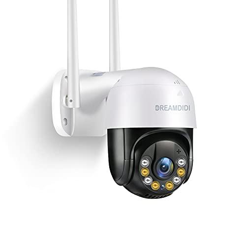 DREAMDIDI 1296P Telecamera WiFi Esterno, 3MP FHD Telecamera di Sicurezza, 20m Visione Notturna a Colori, IP...