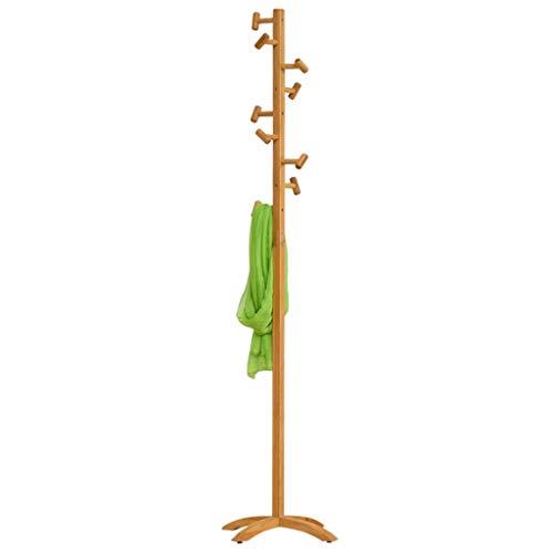 PIAOLING Perchero de pie Independiente Moderno bambú Abrigo Rack Sala de Estar Sencilla Percha Rack Piso Simple Dormitorio Ropa Bolsa de Rack Home Perchero Organizador de Perchero de pie (Color : A)