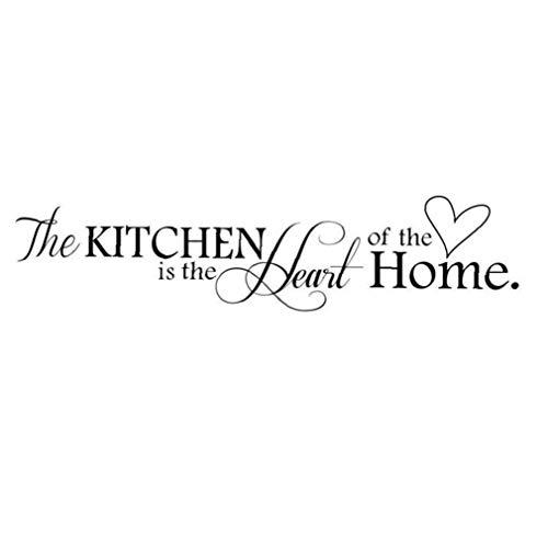 TOPofly Wand-Kunst-Aufkleber-entfernbare Wand-Abziehbilder Die Küche ist das Herz des Hauses wasserdichte Wandtapeten für Haus Schlafzimmer-Dekor Corp Office-Tapete für Convenience