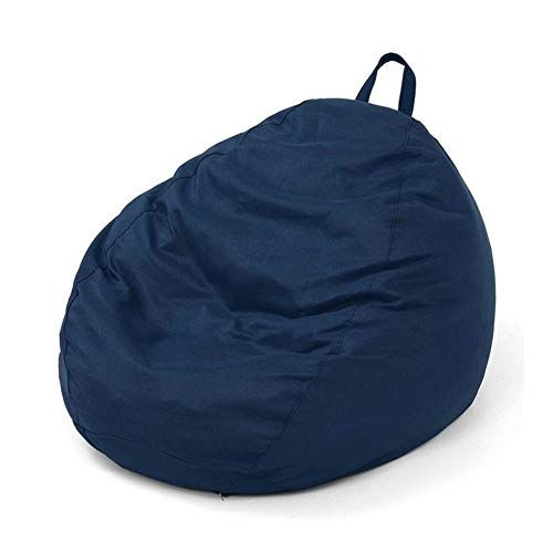 Living Room Lazy Bean Bag Sofa Cover Without Cover Chair Bean Bag Seat Recliner Cushion Stool Used to Organize Children's Plush Toys or Memory f (Colore : Dark Blue)