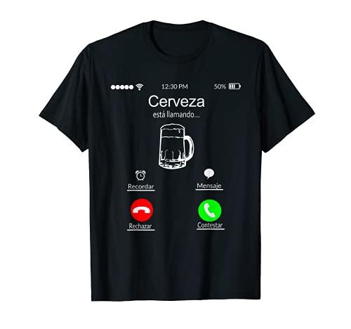 Camiseta Regalo Divertido Cerveza Esta Llamando Camiseta
