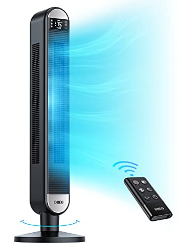 Dreo Tower Fan with Remote, 90° Oscillating...