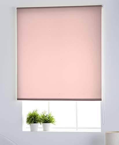 Estoralis Gove Estor Enrollable traslucido Liso, Poliéster, Rosa, 130 x 230 cm