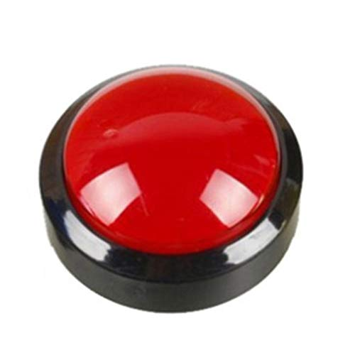 JSJJAWS Interruptor de botón Botón Arcade 5 Colores Lámpara de luz LED 60mm Convexity Big Redondo Arcade Videojuego Player Interruptor de botón (Color : Red)