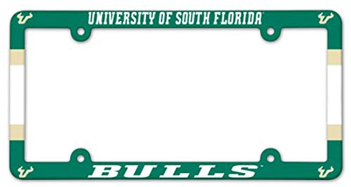 WinCraft University of South Florida USF Bulls Plastic License Plate Frame