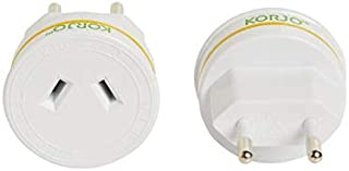Korjo International Power Adapter, 4.3 Centimeters, White