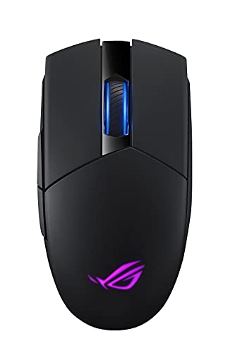 ASUS Optical Gaming Mouse - ROG Strix Impact II | Wireless Gaming Mouse with 16,000 DPI | 5 Programmable Buttons, RGB Lighting, 2.4 GHz, Long Battery Life, Lightweight, Ergonomic
