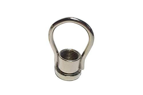 Argolla cromada con rosca para colgar y paso 10/100 - Accesorios para lámparas