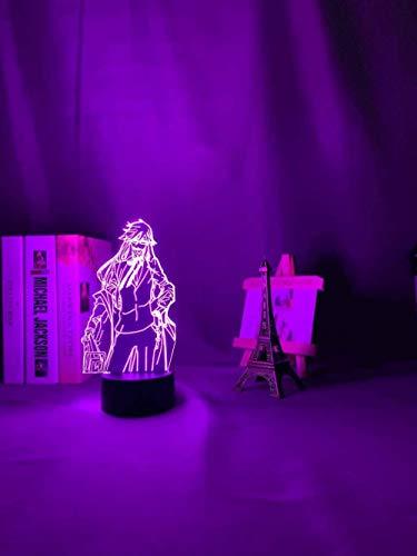 A-Generic Lámpara de ilusión LED 3D Luz de Noche para niños 16 Colores Regulable USB con Control Remoto Regalos creativos